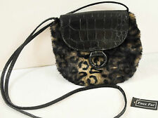 NWT! WOMENS BUENO PURSE FAUX ANIMAL PRINT AND LEATHER LONG SHOULDER STRAP
