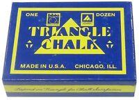 TWEETEN GREEN TRIANGLE CUE CHALK. ONE DOZEN BLOCKS / CUBES