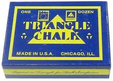 TWEETEN GREEN TRIANGLE CUE CHALK. ONE DOZEN BLOCKS / CUBES