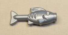 x1 NEW LEGO FLAT SILVER Fish Animal Minifig Food