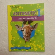 EUC ABEKA  ARITHMETIC 1 TESTS AND SPEED DRILLS TEACHER KEY A BEKA  BOOK