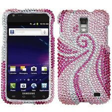 For AT&T Samsung Skyrocket Galaxy S II 2 Crystal BLING Case Cover Pink Tail
