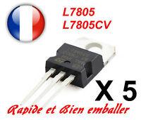5x Reguladores de de Voltaje +5V ST L7805 L7805CV TO220