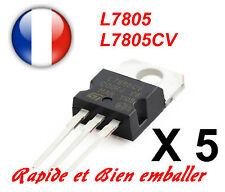 5x Regulateurs de Tension +5V ST L7805 L7805CV TO220
