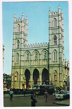 HISTORIC NOTRE-DAME CHURCH MONTREAL QUEBEC CANADA  VINTAGE POSTCARD # 69163