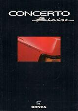 Honda Concerto Blaise Limited Edition 1992 UK Market Sales Brochure