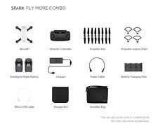 DJI SPARK Fly More Combo RC Drone FPV Quacodpter 1080p 12MP Camera 2 battery