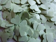 Sage Green Biodegradable Tissue Paper Hearts Wedding Confetti Party Decoration