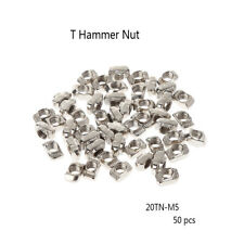 50Pcs/Set Printer M5 T Hammer Nut Fastener Connector For 2020 Profile