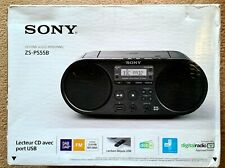 More details for sony zs-ps55b cd boombox with dab/fm radio, two speakers, usb playback