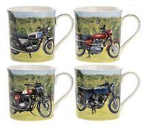 Leonardo Collection Classic Set Of 4 Classic Motorcycle Mugs