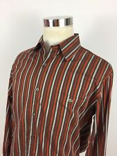 Lacoste Mens 44 Dress Shirt Striped Multicolor Made In Rumania Long Sleeve EUC