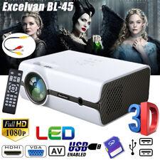 Mini Multimedia 3D LED Projector 5000Lumens FHD 1080P AV HDMI For IPhone Samsung