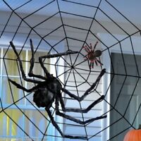 15m giant halloween horror party black rope spider web outdoor decoration