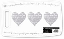 Grey Heart Home Love Curved Kitchen Worktop Chopping Board 37cm x 23cm x 7cm