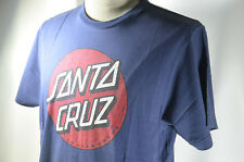 "Santa Cruz BLUE Tee T Shirt Skateboard Large L 21x30"" 100% Cotton NEW NWOT #31"