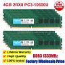 Crucial 4G/8G/16G/2GB PC3-10600U 2RX8 DDR3 1333MHz Desktop Memory DIMM RAM LOT