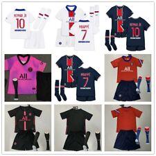 20-21 Football Jersey Soccer Short Sleeve Kits Kids Boys Team Club Suits +Socks