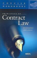 Concise Hornbook: Principles of Contract Law by Robert A. Hillman (2009,...
