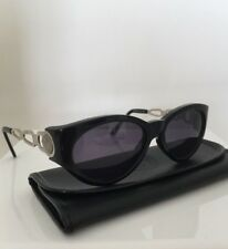NEW Vintage VERSACE Sunglasses 490 M. 490 C. Black & Silver Col. N52 Rare