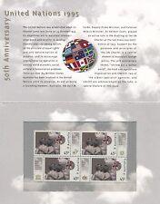 Australia 1995 = 50th ANNIV UNITED NATIONS SET Stamp Pack = MINT XF NH