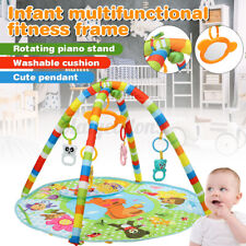 4in1 Soft Infant Activity Gym Play Mat Baby Carriage Kick Toy Xmas Gift