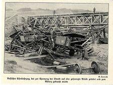 1914 Kampf in Galizien * Abgestürzter russischer Eisenbahnzug *  WW1