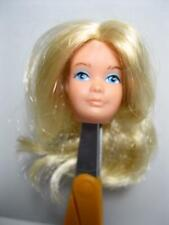 EXCELLENT! 1975 Mattel GROWING UP SKIPPER NUDE blond HEAD PART ONLY barbie doll