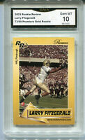 2003 Larry Fitzgerald Rookie Review Gold   rookie gem mint 10 #ed to 99
