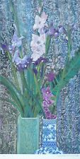 Ting Shao Kuang ORCHIDS AND IRISES HAND SIGNED Serigraph American/Chinese 丁绍光