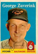 BASEBALL CARD SIGNED / AUTOGRAPHED: 1958 TOPPS 6 - GEORGE ZUVERINK