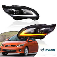 LED Clear Projector Headlights For TOYOTA COROLLA 2011-2013 A Pair