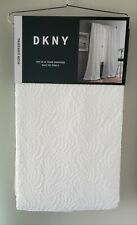 DKNY Cloud White Textured 2 Back Tab Panels Room Darkening Window Curtains 50x96