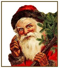 Vintage Father Christmas Santa Claus # 718 Counted Cross Stitch Pattern