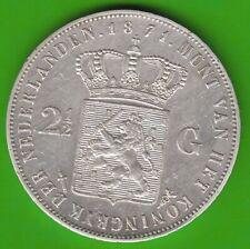 Niederlande 2 1/2 Gulden 1871 Willem III fast vz leicht berieben nswleipzig