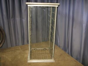 VINTAGE TABLE TALK PASTRY Co. NEW ENGLAND GLASS PIE SAFE COUNTRY STORE DISPLAY