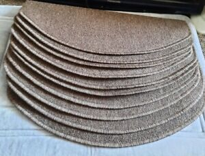 10 Stair mat set Half Moon Brown Meradiso Modern Durable New Easy Fit