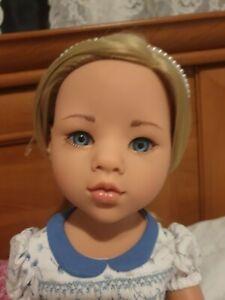 "Gotz  Sophia Doll's head 50cm 19.5"" Blonde hair Blue eyes Asian mould"