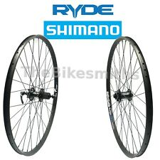 "27.5"" Ryde Edge-22 Mountain Bike Disc Wheel Set Shimano XT Rear& Front 15mm thru"