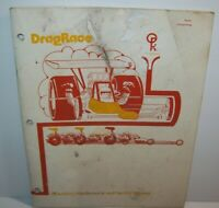 Drag Race Arcade Manual Original Atari 1977 Video Game Repair With Schematics