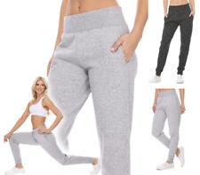 Reflex Women's Wide Waistband Jogger Sweatpants Workout Gym Lounge Cotton Fleece