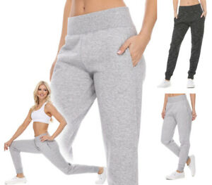 Reflex Women's Wide Waistband Jogger Sweatpants Workout Gym Lounge Cotton Fleece