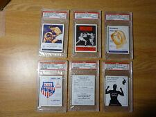 (11) DIFF. PSA GRADED 1997 SPORTING PROFILES BOXING CARDS- W/ ALI/ CLAY-  RARE!