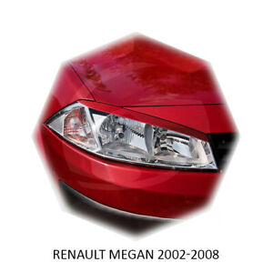 For Renault Megane Eyelids Eyebrows Eye Line Headlight Trim 2002-2008