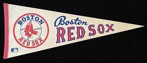 "BOSTON RED SOX 1970's Vintage Full Size White Pennant 30"" MLB"