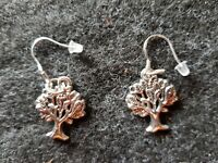 Viking/Celtic Silver Tree of Life Earrings