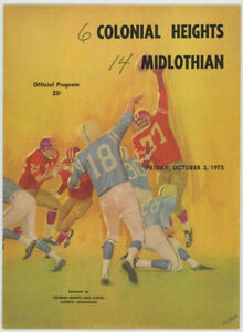 VTG 1975 MIDLOTHIAN VS.COLONIAL HEIGHTS HIGH SCHOOL FOOTBALL PROGRAM,VIRGINIA