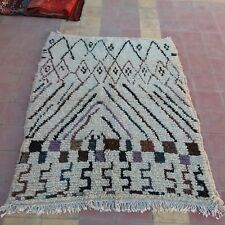 "Vintage moroccan rug berber tribal Azilal rug coloured carpet 60"" x 47"""