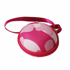 EARPHONE CASE PURSE COIN HOLDER HEARING AID PINK CAMOUFLAGE UK SELLER!!