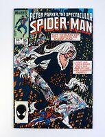SPECTACULAR SPIDER-MAN # 90 Marvel Comics 1st Black Costume In Title NM- 1984